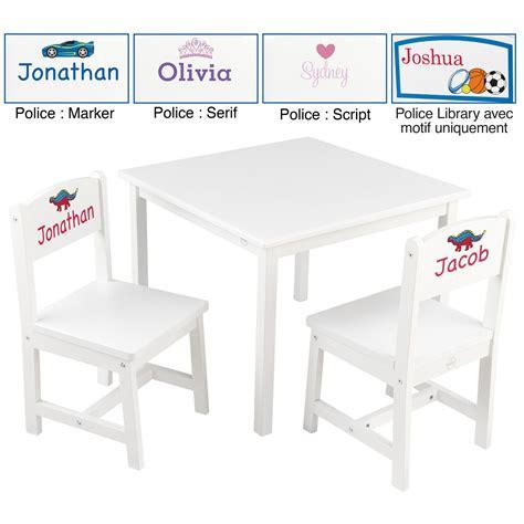 table et chaise bebe cuisine table ronde avec filet et chaises blanc et k