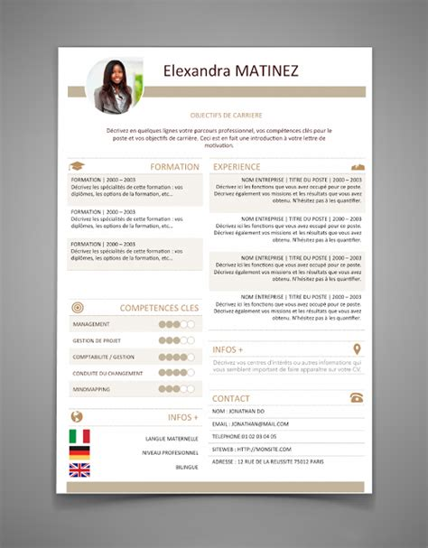 Module De Cv 2016 by The Best Resume Templates For 2016 2017 Word Stagepfe