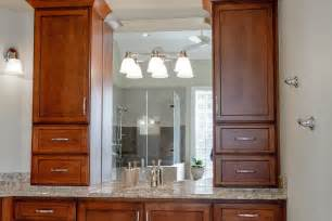 bathroom counter storage tower elegant vanity details