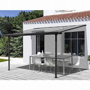 pergola en aluminium et polycarbonate 3x3 m ABRIRAMA TT3030AL : abrirama fr : l'abri de jardin