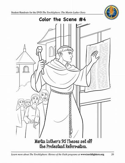 Luther Coloring Martin Reformation Activities Games Pope