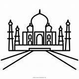 Taj Mahal Coloring Colorir Desenho Hotel Kindpng Ultracoloringpages sketch template
