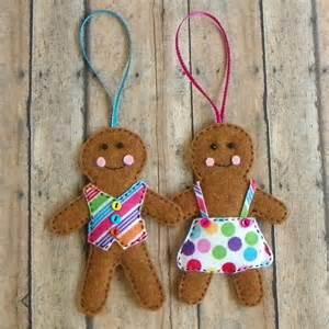 Gingerbread Boy and Girl Ornament Felt