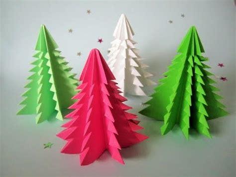 3d weihnachtsbaum aus papier in 5 minuten falten diy