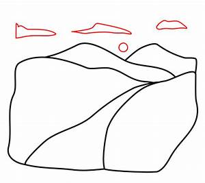 Drawing a cartoon valley