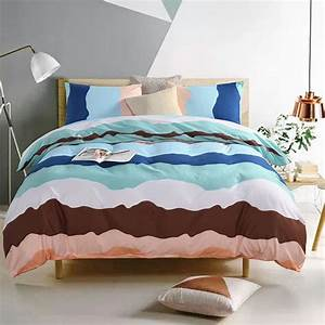 Printed, Wave, Bedding, Set, For, Bedroom, Without, Bed, Sheet