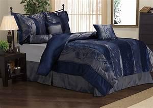 Navy, Blue, Comforter, Sets