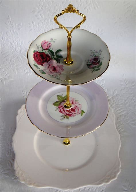 how to make a vintage 3 tier cup cake plate wedding stand