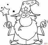 Wizard Coloring Wand Magic Angry Pages Waving Drawing Drawings Printable Skip Main sketch template