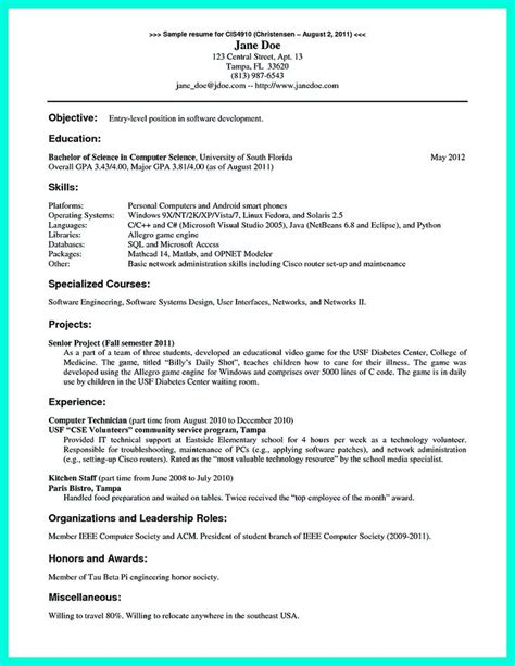 Cse Student Resume Template by Cse Student Resume Resume For Your Application Science Resume Exles