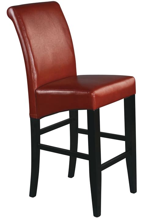 solid wood stool met8630rd office 30 quot parsons bar stool in crimson