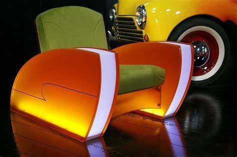 retro futuristic furniture vintage industrial style