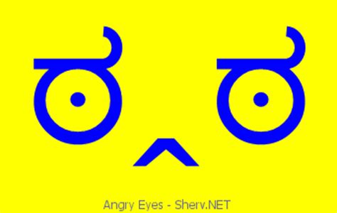 angry eyes text emoticon  text  ascii emoticons