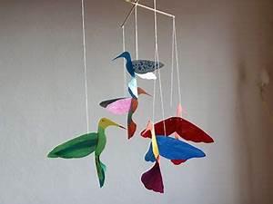 Mobile Basteln Origami : mit dieser vorlage und anleitung ein buntes vogel mobile basteln die kids kids handicraft ~ Orissabook.com Haus und Dekorationen
