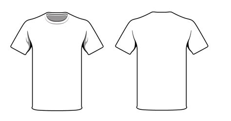 White T Shirt Template View T Shirt Template