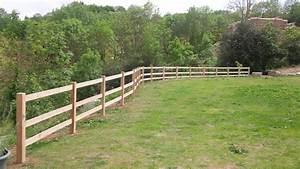 Barrière En Bois Jardin : cl tures la pacaudi re dans la loire 42 ~ Premium-room.com Idées de Décoration