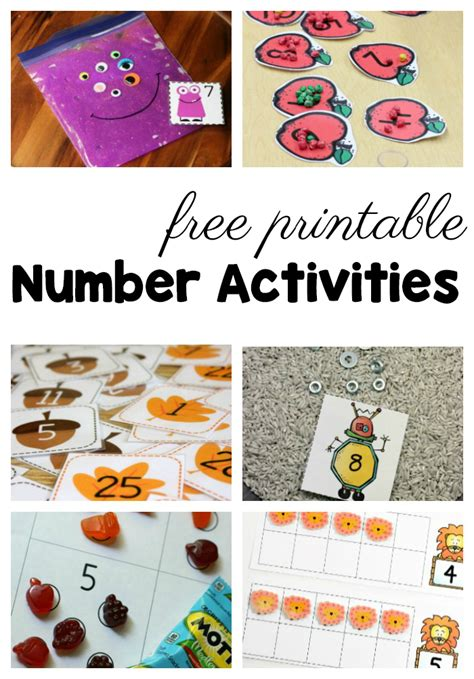 50 free preschool printables for early childhood classrooms 458 | free preschool printables number activities