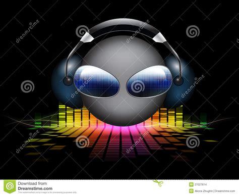 smiley dj  equalizer background stock illustration