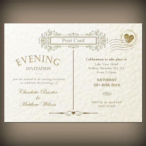 postcard invitation wedding evening invitations envelopes vintage post card ebay