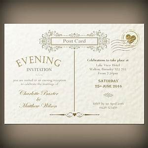 wedding evening invitations envelopes vintage With wedding invitations for the evening