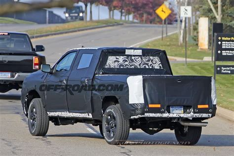 ram heavy duty pickup spotted testing  production