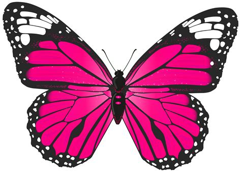 Butterfly Clip Light Pink Butterfly Clip Hanslodge Cliparts