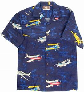 General Aviation Hawaiian Airplane Shirt Aloha Shirts