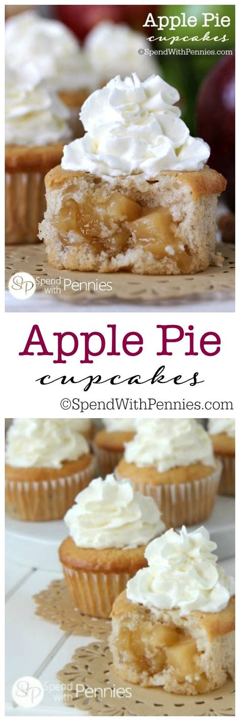 apple pie cupcakes ideas  pinterest apple