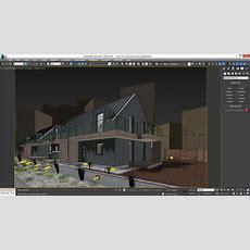 Vray Night Scene  Rendering Modern House Tutorial 3d