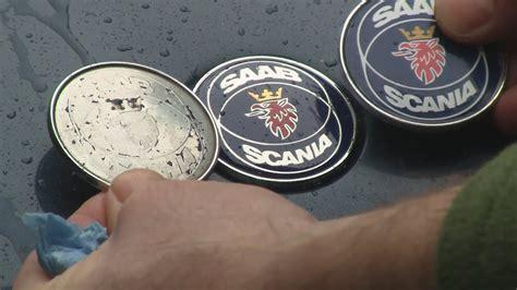 saab  fix  faded hood emblem badge similar