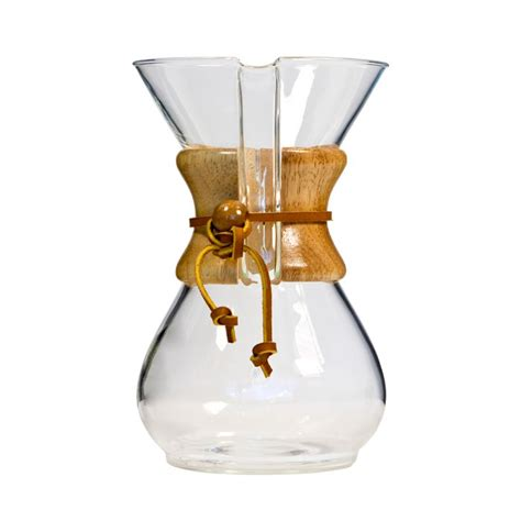 Use 20 grams of coffee beans (about 3 tablespoons) and 300 grams water. Chemex Classic Series Coffeemaker | Classic coffee maker ...