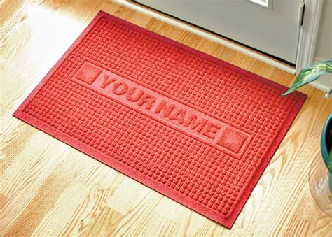 custom size welcome mats personalized sculpture waffle logo door mat