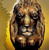 Lion Body Painting