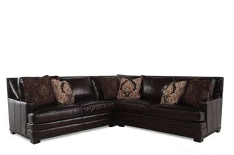 Bernhardt Cantor Fudge Sofa by Bernhardt Cantor Three Leather Sectional Mathis