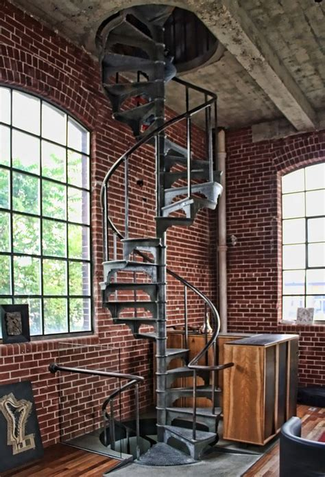 spiral staircase for loft 10 rincones industriales que nos han conquistado staircases spirals and spiral staircases