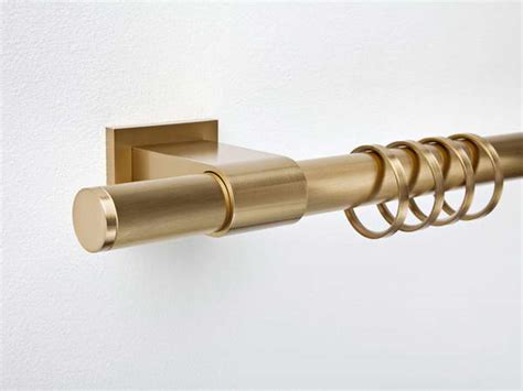 bloombety nickel curtain rod with gold color design