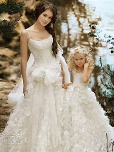 Matching flower girl dresses to bridal gowns belle the for Wedding dresses for flower girl
