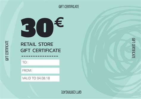 create personalized gift certificate  vouchers