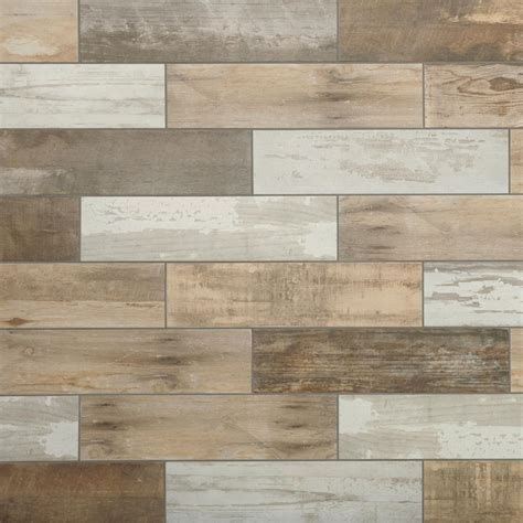 tiles wood marazzi montagna wood vintage chic 6 in x 24 in porcelain floor and wall tile 14 53 sq ft