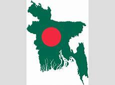 Clipart Bangladesh Map Flag