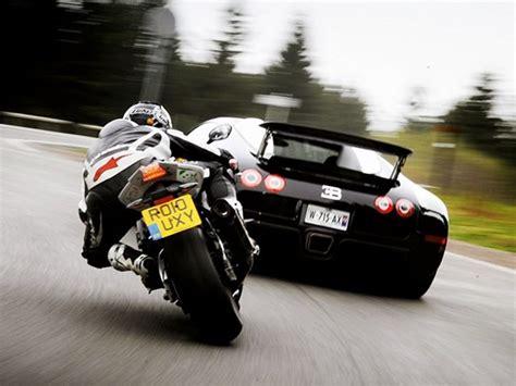 Bike Vs Bugatti Veyron