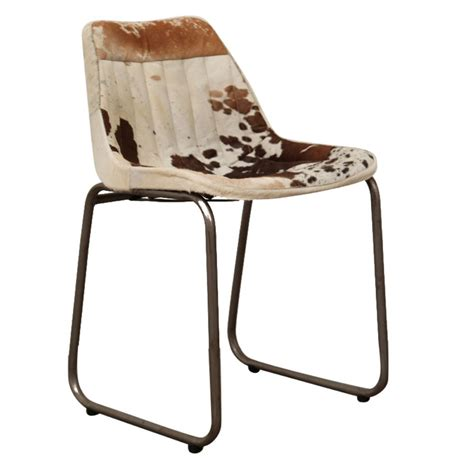 Cowhide Dining Chairs Uk - industrial leather or cowhide dining chair retro vintage