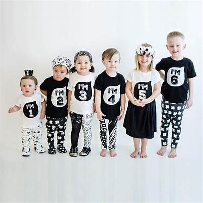 Matching Number Outfits Brother Sister Sibling Tees