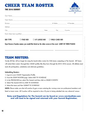 printable team roster forms  templates fillable