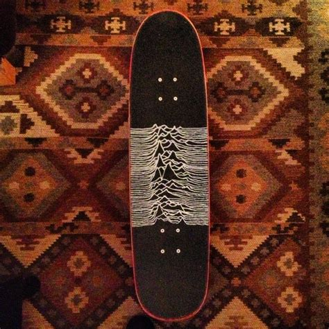 joy division grip tape drawn  hand   white paint