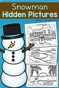 Snowman Hidden Pictures Printables