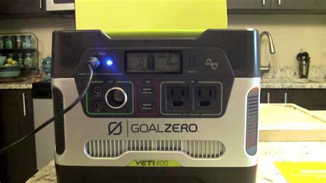goal zero yeti 400 generator solar