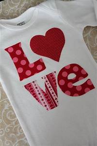 Baby Girl Valentine Onesie - LOVE - hand cut applique in ...