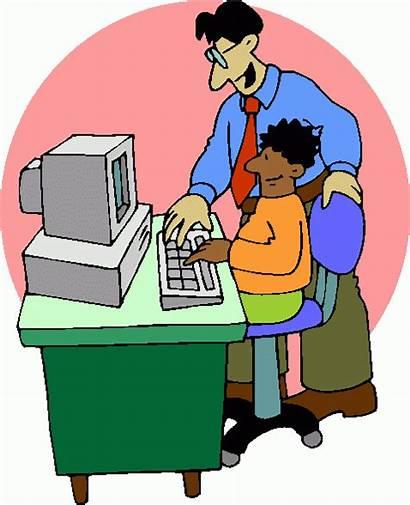 Teacher Computer Clip Clipart Cliparts Teachers Student