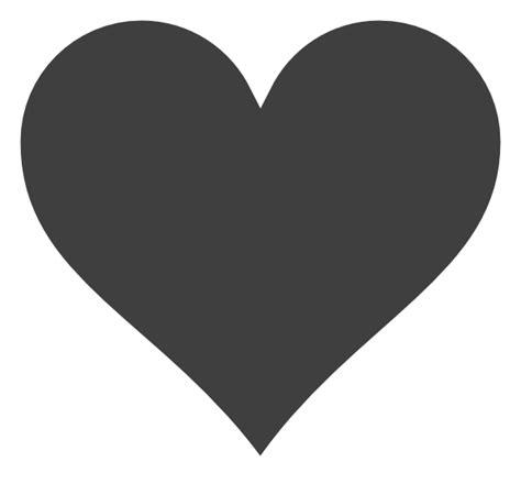 grey heart white outline clip art  clkercom vector